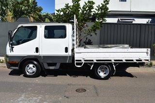 1999 Mitsubishi Canter FB511BWW White Crew Cab Chassis 2.8l 4x2.