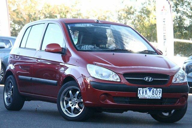 Used Hyundai Getz TB MY09 SX Essendon North, 2010 Hyundai Getz TB MY09 SX Red 4 Speed Automatic Hatchback