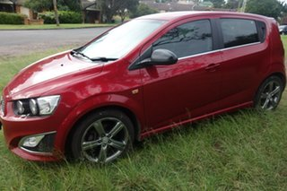 2014 Holden Barina TM MY14 RS Red 6 Speed Sports Automatic Hatchback.