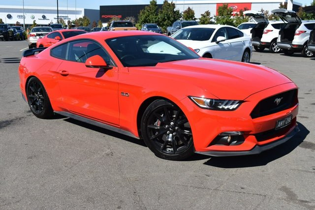 Used Ford Mustang FM 2017MY GT Fastback Essendon Fields, 2017 Ford Mustang FM 2017MY GT Fastback Race Red 6 Speed Manual Fastback