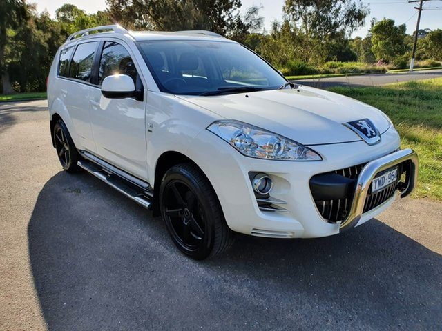 Used Peugeot 4007 ST HDi Geelong, 2012 Peugeot 4007 (No Series) ST HDi White Sports Automatic Dual Clutch Wagon