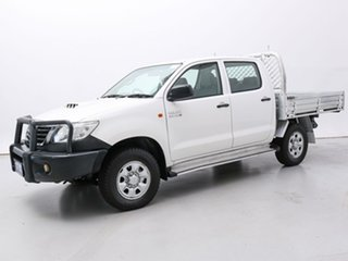 2012 Toyota Hilux KUN26R MY12 SR (4x4) White 5 Speed Manual Dual Cab Pick-up.