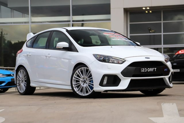 Used Ford Focus LZ RS AWD Liverpool, 2017 Ford Focus LZ RS AWD Frozen White 6 Speed Manual Hatchback