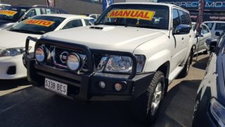2011 Nissan Patrol GU VII ST (4x4) White 5 Speed Manual Wagon.