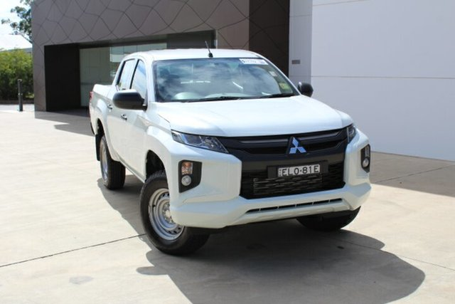 Demo Mitsubishi Triton MR MY21 GLX Double Cab Tuggerah, 2020 Mitsubishi Triton MR MY21 GLX Double Cab White 6 Speed Sports Automatic Utility