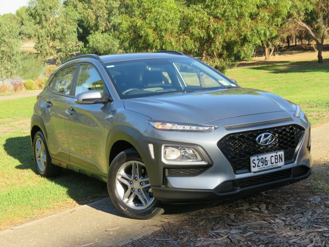 Used Hyundai Kona OS.2 MY19 Active 2WD Morphett Vale, 2019 Hyundai Kona OS.2 MY19 Active 2WD Lake Silver/dark Gre 6 Speed Sports Automatic Wagon
