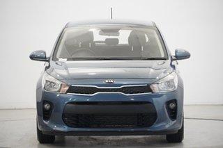 2019 Kia Rio YB MY19 S Smoke Blue 4 Speed Sports Automatic Hatchback.