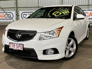 2012 Holden Cruze JH Series II MY12 SRi White 6 Speed Manual Sedan.