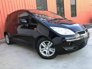 2008 Mitsubishi Colt RG MY08 VR-X Black 1 Speed Constant Variable Hatchback.