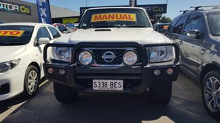 2011 Nissan Patrol GU VII ST (4x4) White 5 Speed Manual Wagon