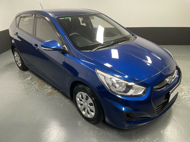 Used Hyundai Accent RB4 MY17 Active Hamilton, 2016 Hyundai Accent RB4 MY17 Active Blue 6 Speed Manual Hatchback