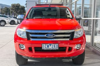 2014 Ford Ranger PX XLT Double Cab Red 6 Speed Sports Automatic Utility.