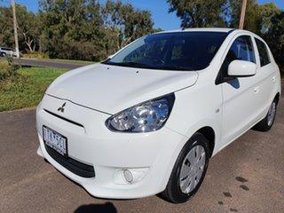 2013 Mitsubishi Mirage LA ES White Constant Variable Hatchback.