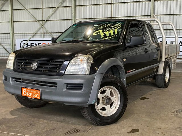 Used Holden Rodeo RA MY06 LX Crew Cab Rocklea, 2006 Holden Rodeo RA MY06 LX Crew Cab Black 5 Speed Manual Utility