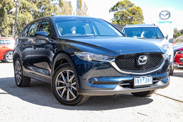 Used Mazda CX-5 KF4WLA GT SKYACTIV-Drive i-ACTIV AWD Mornington, 2017 Mazda CX-5 KF4WLA GT SKYACTIV-Drive i-ACTIV AWD Deep Crystal Blue 6 Speed Sports Automatic