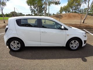 2013 Holden Barina TM MY14 CD White 5 Speed Manual Hatchback.