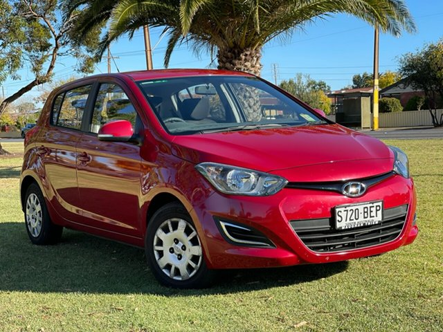 Used Hyundai i20 PB MY14 Active Cheltenham, 2014 Hyundai i20 PB MY14 Active Red Passion 4 Speed Automatic Hatchback