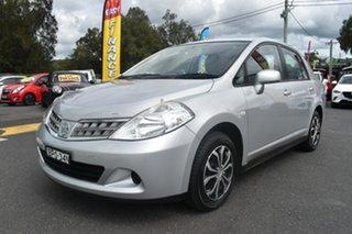 2010 Nissan Tiida C11 MY07 ST Silver 4 Speed Automatic Hatchback