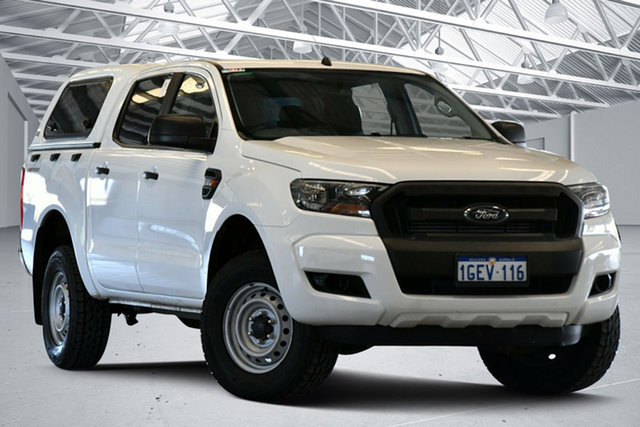 Used Ford Ranger PX MkII XL 2.2 Hi-Rider (4x2) Perth Airport, 2016 Ford Ranger PX MkII XL 2.2 Hi-Rider (4x2) Cool White 6 Speed Automatic Crew Cab Pickup