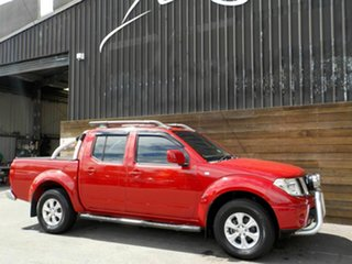 2011 Nissan Navara D40 ST Red 5 Speed Automatic Utility.