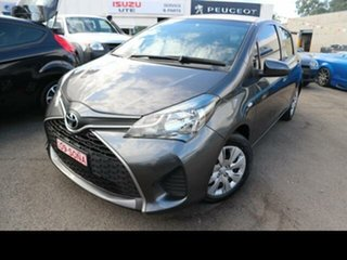2014 Toyota Yaris NCP130R MY15 Ascent Silver 4 Speed Automatic Hatchback.