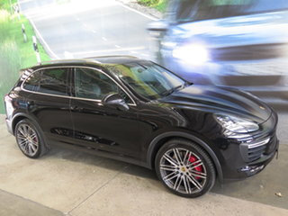 2015 Porsche Cayenne Series 2 MY15 Turbo Black 8 Speed Automatic Tiptronic Wagon.