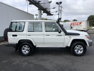 2019 Toyota Landcruiser VDJ76R GXL French Vanilla 5 Speed Manual Wagon.