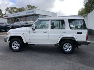 2019 Toyota Landcruiser VDJ76R GXL French Vanilla 5 Speed Manual Wagon