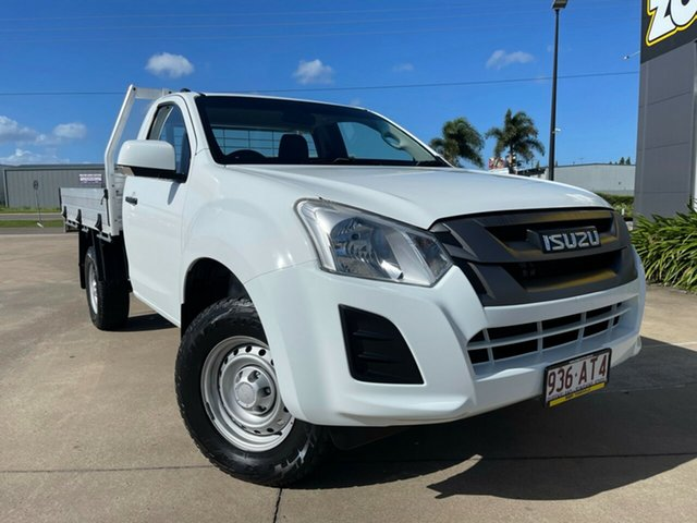 Used Isuzu D-MAX MY17 SX 4x2 High Ride Townsville, 2017 Isuzu D-MAX MY17 SX 4x2 High Ride White/180917 6 Speed Sports Automatic Cab Chassis