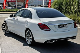 2016 Mercedes-Benz C-Class W205 806+056MY C250 7G-Tronic + White 7 Speed Sports Automatic Sedan.