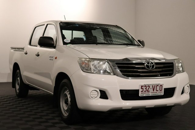 Used Toyota Hilux GGN15R MY14 SR Double Cab 4x2 Acacia Ridge, 2014 Toyota Hilux GGN15R MY14 SR Double Cab 4x2 Glacier 5 speed Automatic Utility