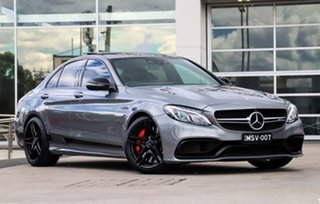 2016 Mercedes-Benz C-Class W205 806+056MY C63 AMG SPEEDSHIFT MCT S Palladium Silver 7 Speed.