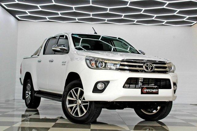 Used Toyota Hilux GUN126R SR5 (4x4) Burleigh Heads, 2017 Toyota Hilux GUN126R SR5 (4x4) White 6 Speed Automatic Dual Cab Utility