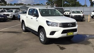 2015 Toyota Hilux GUN126R SR Double Cab White 6 Speed Sports Automatic Utility