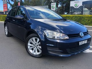 2013 Volkswagen Golf VII 90TSI DSG Comfortline Blue 7 Speed Sports Automatic Dual Clutch Hatchback.