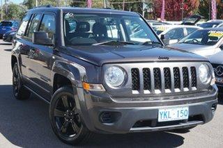 2014 Jeep Patriot MK MY14 Blackhawk CVT Auto Stick 4x2 Black 6 Speed Constant Variable Wagon.