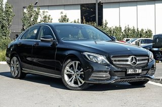 2015 Mercedes-Benz C-Class W205 C200 7G-Tronic + Black 7 Speed Sports Automatic Sedan.