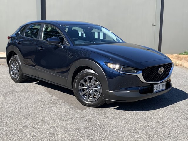 Demo Mazda CX-30 DM2W7A G20 SKYACTIV-Drive Pure Hindmarsh, 2021 Mazda CX-30 DM2W7A G20 SKYACTIV-Drive Pure Deep Crystal Blue 6 Speed Sports Automatic Wagon