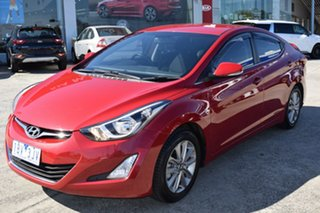 2014 Hyundai Elantra MD3 Elite Red/Black 6 Speed Sports Automatic Sedan.