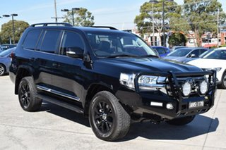 2017 Toyota Landcruiser VDJ200R Sahara Black 6 Speed Sports Automatic Wagon.