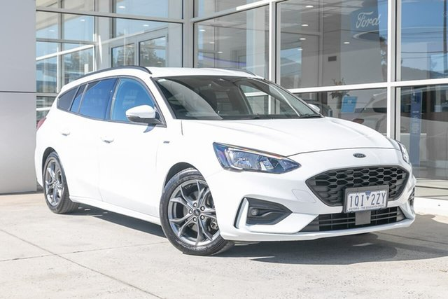 Used Ford Focus SA 2019.75MY ST-Line Ferntree Gully, 2019 Ford Focus SA 2019.75MY ST-Line White 8 Speed Automatic Wagon