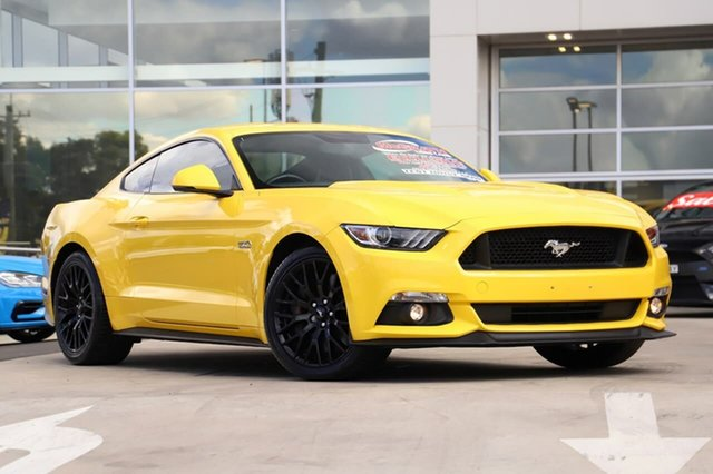 Used Ford Mustang FM 2017MY GT Fastback SelectShift Liverpool, 2017 Ford Mustang FM 2017MY GT Fastback SelectShift Triple Yellow 6 Speed Sports Automatic Fastback