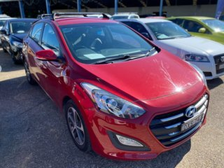 2015 Hyundai i30 GD3 Series II MY16 Active X Red 6 Speed Sports Automatic Hatchback.