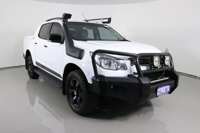 Used Holden Colorado RG MY16 Z71 (4x4) Bentley, 2015 Holden Colorado RG MY16 Z71 (4x4) White 6 Speed Manual Crew Cab Pickup
