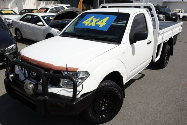 Used Nissan Navara D40 S6 MY12 RX Moorooka, 2012 Nissan Navara D40 S6 MY12 RX White 6 Speed Manual Cab Chassis
