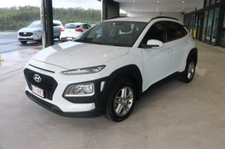 2017 Hyundai Kona OS MY18 Active D-CT AWD Polar White 7 Speed Sports Automatic Dual Clutch Wagon.
