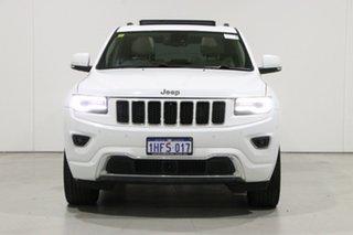 2013 Jeep Grand Cherokee WK MY14 Overland (4x4) White 8 Speed Automatic Wagon.