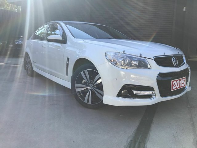 Used Holden Commodore VF MY15 SV6 Storm Fawkner, 2015 Holden Commodore VF MY15 SV6 Storm White 6 Speed Automatic Sedan