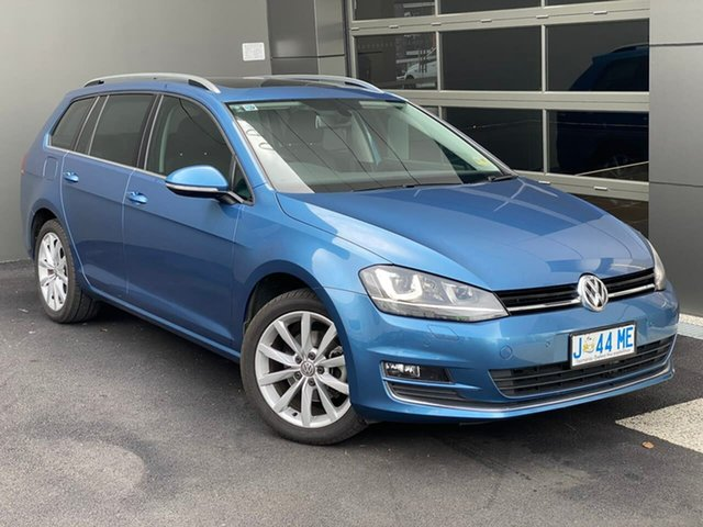 Used Volkswagen Golf VII MY16 110TSI DSG Highline Hobart, 2016 Volkswagen Golf VII MY16 110TSI DSG Highline Blue 7 Speed Sports Automatic Dual Clutch Wagon