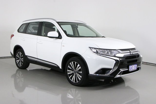 Used Mitsubishi Outlander ZL MY19 ES 7 Seat (AWD) Bentley, 2019 Mitsubishi Outlander ZL MY19 ES 7 Seat (AWD) White Continuous Variable Wagon